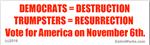 Democrats = Destruction