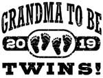 Grandma To Be Twins 2019 t-shirts