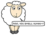 Poo, you smell human-y