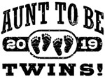 Aunt To Be Twins 2019 t-shirts
