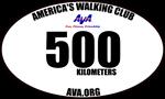 Kilometers Walked Magnets