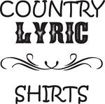 Country Lyric T-shirts