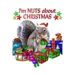 CHRISTMAS SQUIRREL WITH PRESENTS