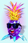 Pineapple Hipster Ultraviolet Happy Dude with Sung