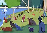 Seurat's Cats