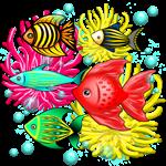 Fish Cute Colorful Doodles