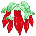 Red Hot Chilli Pepper Decorative Food Art