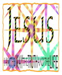 Colorful Christian Jesus Text Background