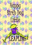 LEAP YEAR BABY ANNOUNCEMENT