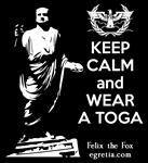 Keep Calm and Wear a Toga