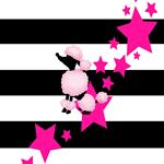 Pink Poodle Retro Stars