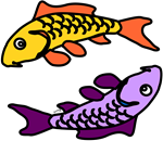 Abstract Carp Pair