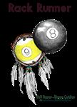 RACK RUNNER Pool Player Dreamcatcher  by OTC Billliards Designs