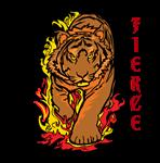 TIGER ON FIRE FIERCE