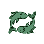TWO GREEN FISHES PICSES