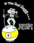 Feel Frog Gy Jump, Funny 9 Ball Billiard T-shirts