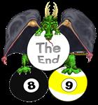 Bat Wing Dragon of Billiards Doom Fantasy