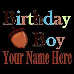 Birthday Boy in Fall