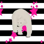 Polar Bear in Pink