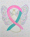Pink and Teal Awareness Ribbons