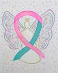 Pink and Teal Awareness Ribbons