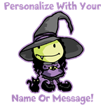 Personalized Cute Little Witch