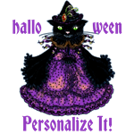 Personalized Cat Witch