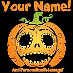 Personalized Sweet Halloween Pumpkin