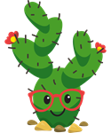 Cute Hipster Cactus
