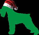 German Schnauzer Santa