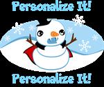 Vampire Snowman Personalized
