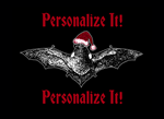 Bat In A Santa Hat Personalized