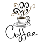 Coffee Cup With Flourish Steam