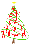 Gymnastics Christmas Tree