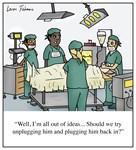Unplug him and plug him back in