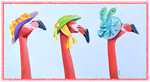 Flamingoes in hats