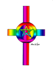Rainbow Cross by Mark W Lucke