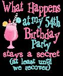 54th Birthday Party