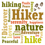 Hiker Word Cloud