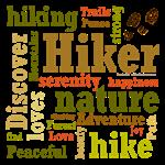 Hiker Word Cloud