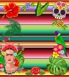 Frida Kahlo Floral Exotic Portrait