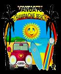 Champagne Vanuatu Beach T-shirt