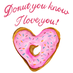 Donut You Know, I Love You Heart Donut