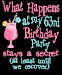 63rd Birthday Party
