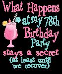 78th Birthday Party
