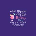 81st Birthday Party