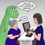 Dinosaur Service Animal