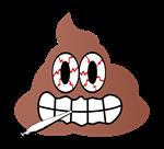 Stoned Poop Emoji