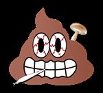 Stoned Shroomin Poop Emoji
