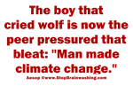 Aesop's Man made climate change
